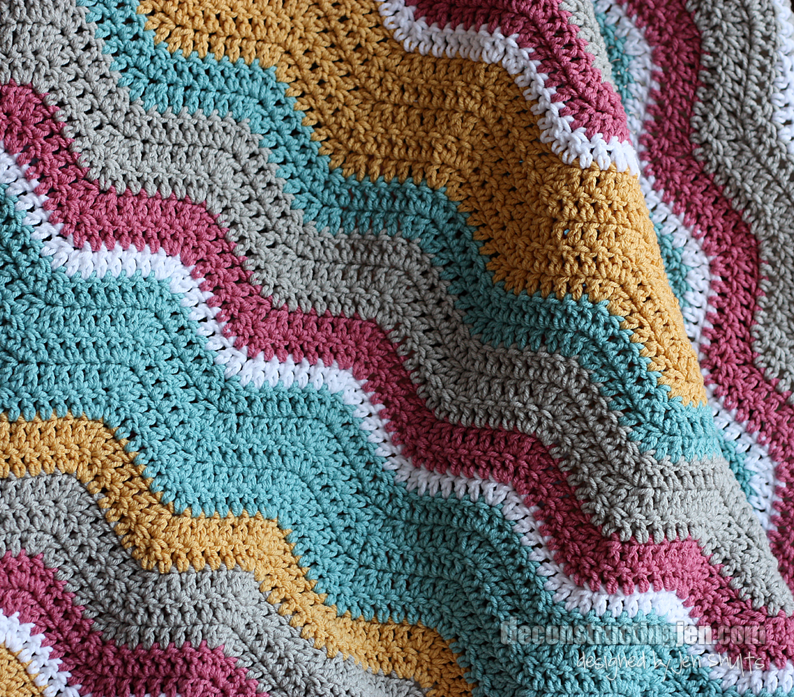 Crochet Ripple Blanket : Crossed Double Crochet Ripple Blanket - Afghans Crocheted My