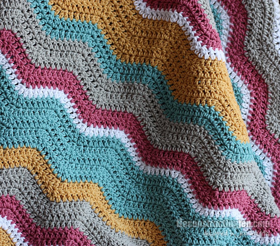 Ripple Crochet : Crossed Double Crochet Ripple Blanket - Afghans Crocheted My