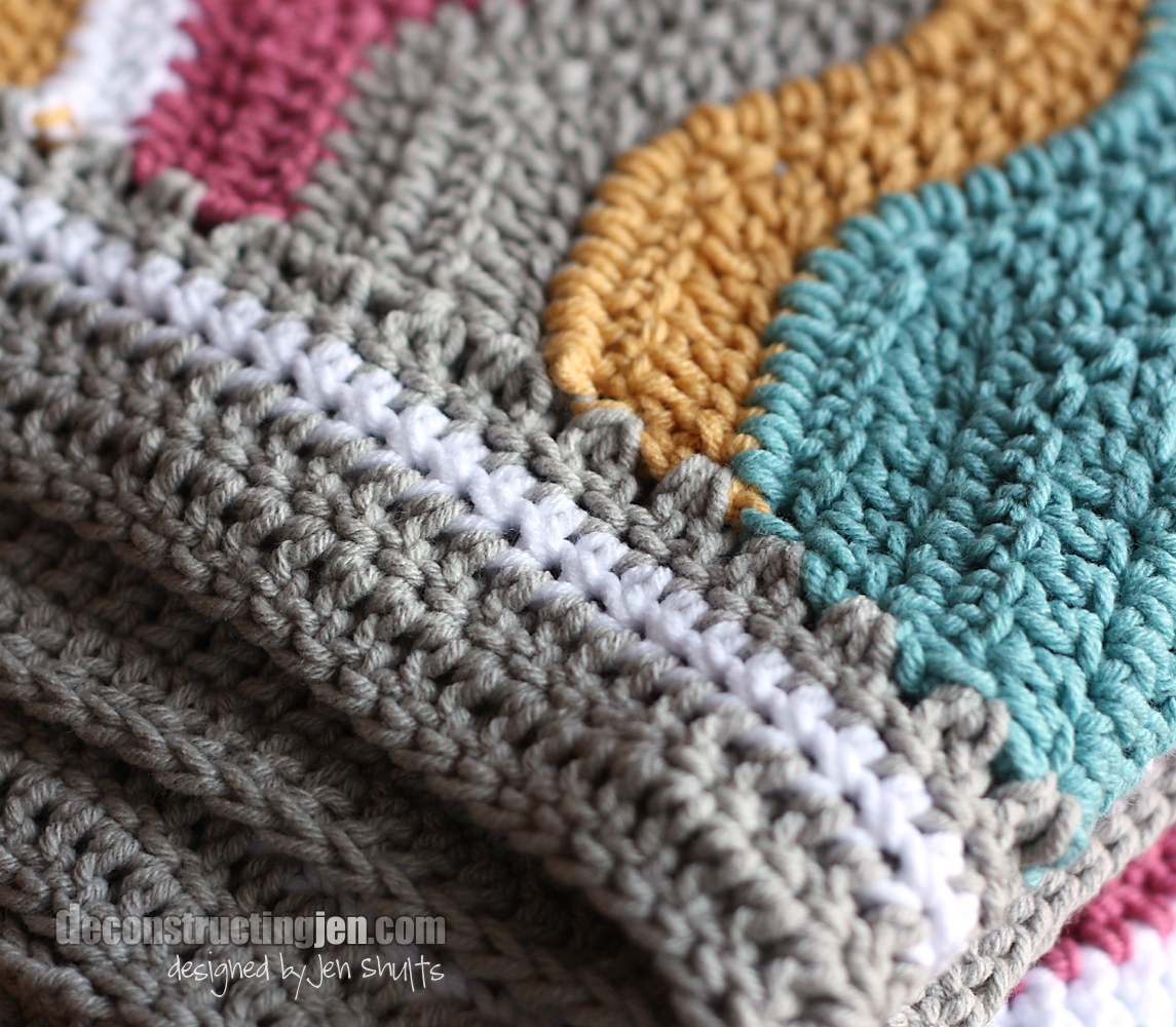 ... Photos - Crossed Double Crochet Ripple Blanket Afghans Crocheted My