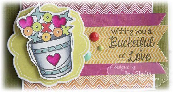 Bucketful of Love, handmade card
