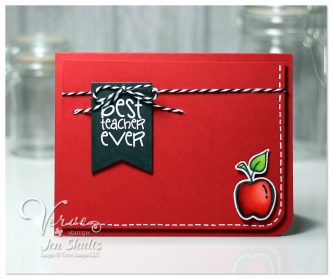 Best Teacher Ever by Jen Shults, Stamps and dies from Verve Stamps