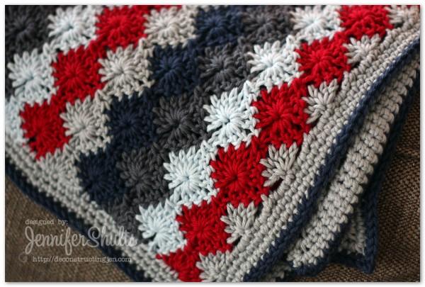 Harlequin Crochet Baby Blanket - Deconstructing Jen