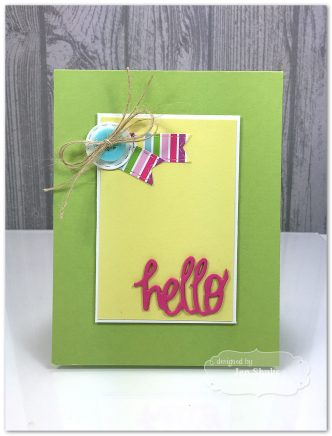 Hello, handmade card #tayloredexpressions #clean&simple