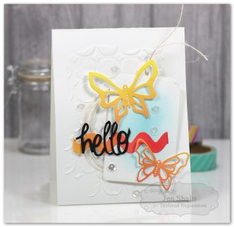 Hello handmade card, dies from Taylored Expressions