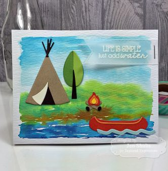 Just Add Water, handmade card stamps and dies from Taylored Expressions