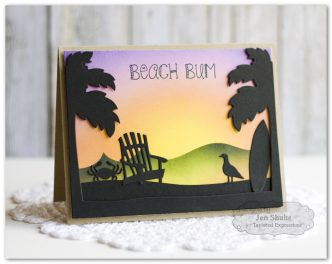 Beach Bum by Jen Shults, stamps and dies from Taylored Expressions