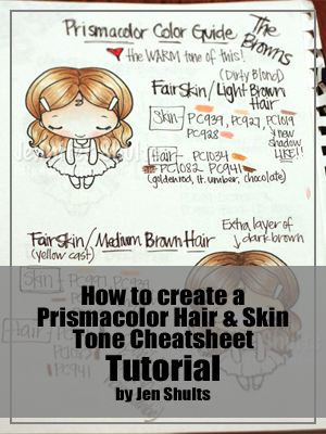 Prismacolor Skin Hair Guide Book Deconstructing Jen
